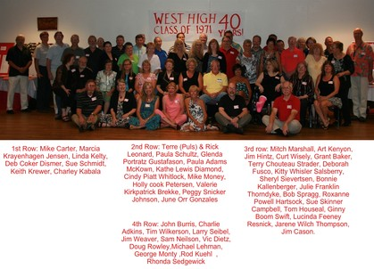 40th Reunion Group Pic with IDs